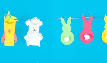 Zwei einfache Kinder-Bastelideen für Ostern